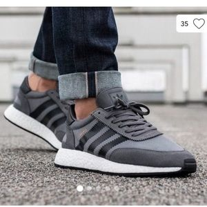 Adidas I-5923 black gray retro woman sneakers 7